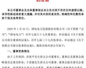 国电电力乔保平、谢长军等八位董事、监事辞职