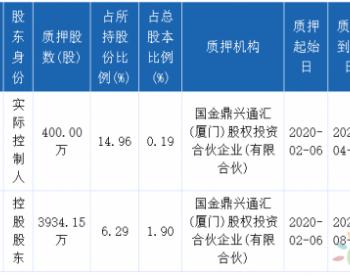总计4334.15万股!<em>嘉泽新能</em>多名股东开展质押业务