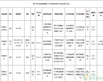 广西南宁市抽查4批次燃气灶产品 不合格1批次