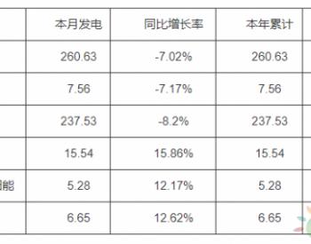 2020年1<em>月</em>河南省<em>太阳能发电</em>5.28%,同比增长<em>12</em>.17%