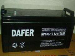 DAFER德富力蓄电池NP100-12,12V100AH代理