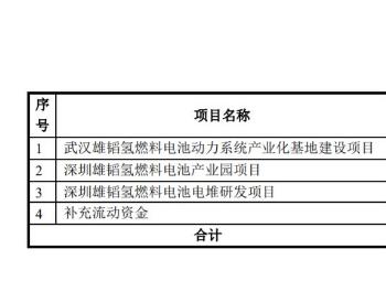 9.95亿元!<em>雄韬股份</em>募资建设湖北武汉、广东深圳氢能项目