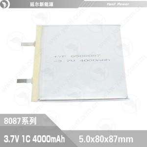 高温聚合物锂电池508087 3.7V 4000mAh