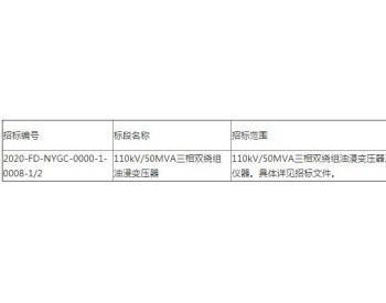 招标|中电投<em>广西合山洛山风电场</em>110kV/50MVA三相双绕组油浸变压器招标