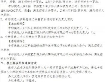 中标|青海华电海南切吉四标段50MW风电项目基础锚栓中标候选人公示