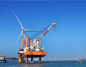 福建省重点项目平海湾海上<em>风电场</em>完成春节后首台风机吊装