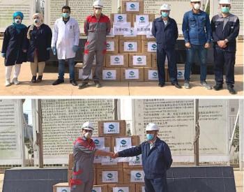 上海电气向伊拉克电厂捐赠40000副口罩