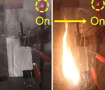 斯坦福大学研发出阻燃固态电池:着火后依然正常供电
