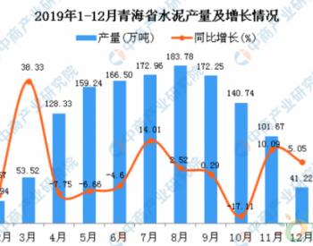 2019年青海省<em>水泥产量</em>为1339.78万吨 同比下降11.06%