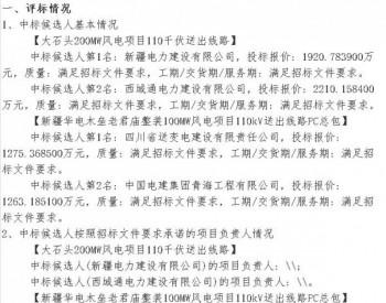 中标 <em>华电</em>新疆木垒大石头200MW风电项目、木垒老君庙风电项目中标候选人公示