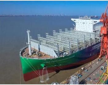 沪东中华建造全球首艘23000箱LNG<em>动力集装箱船</em>试航
