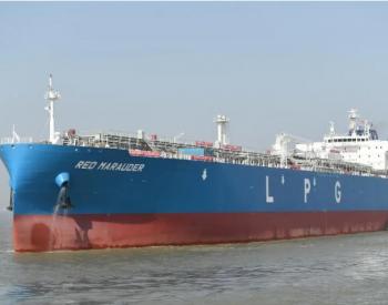 江南造船84000立方米超大型液化气船<em>试航</em>