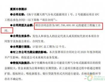 钱江生化子公司签订<em>天然气分布式能源项目</em>EPC工程总承包合同 合同总价5.88亿元