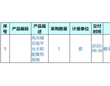 大唐东北院科研管理部风光储实验平台发布太阳能集热<em>系统</em>采购询价公告
