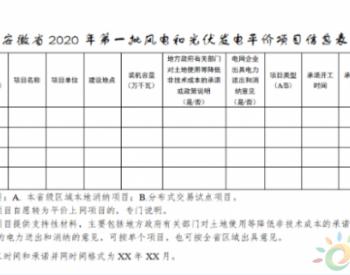 安徽省能源局关于做好2020年风电和<em>光伏发电项目</em>建设工作的通知