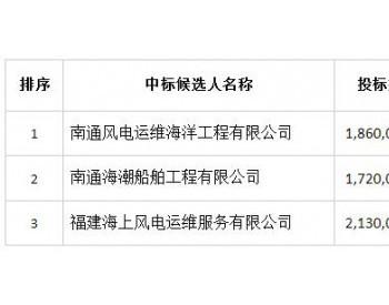 中标   中广核福建珍珠湾海上风电场2020-2021年度运维船租赁<em>招标采购项目</em>中标候选人公示
