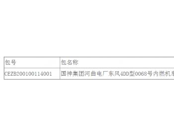 中标|国神集团山西河曲电厂东风4DD型0068号内燃机车中修(重新<em>招标</em>)中标结果公告