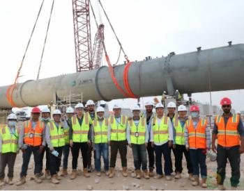 迪拜太阳能<em>发电</em>项目首台溢流罐吊装就位