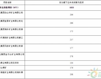 1833万元!湖南省公布2020年煤矿安全改造中央预算