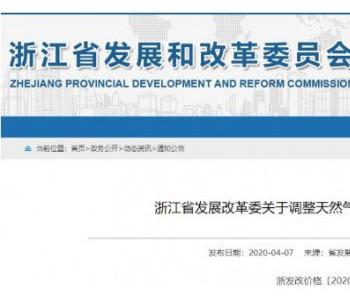 浙江省发改委发布关于调整<em>天然气发电机组</em>上网电价的通知