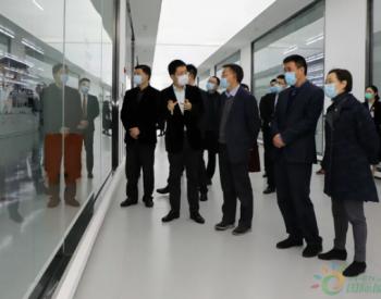 四川省政协副秘书长、办公厅主任杨程富一行莅临通威太阳能调研