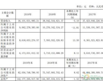 上港集团2019年净利90.62亿下滑11.81% 煤炭等接卸