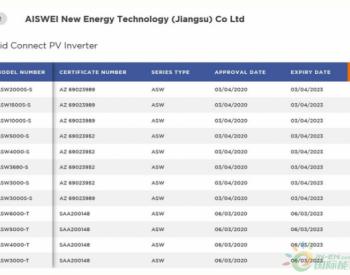 <em>爱士惟</em>旗下solplanet品牌全新系列户用逆变器完成CEC(澳洲)列名