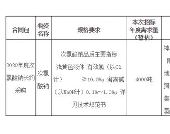 招标 | 福建公司福建鸿山电厂2020年度次氯酸钠长约采购公开招标项目招标公告