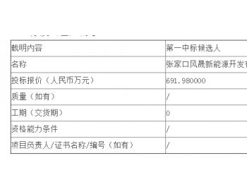 中标|龙源<em>电力</em>河北龙源风力发电有限公司SDH光传输设备改造公开<em>招标</em>中标候选人公示