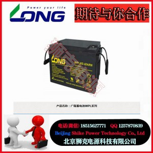 台湾广隆蓄电池WPL系列中国总部现货销售
