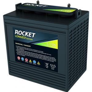 韩国火箭蓄电池LongestL105扫地车/洗地机专用