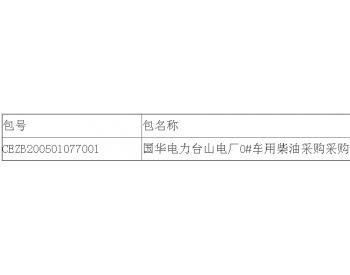 中标 | 国华电力广东台山电厂0#<em>车用柴油</em>采购采购公开招标中标候选人公示
