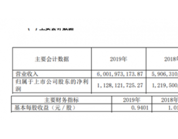 恒源煤电2019年净利11.28亿较上年同期下滑7.49% <em>商品煤产量</em>同比减少