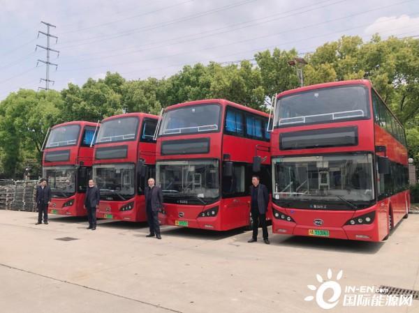 上海首投比亚迪纯电动双层巴士打