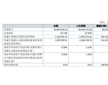 瑞科际2019年净利113.95万扭亏为盈 餐厨垃圾处理及相关收入增长