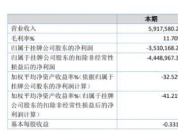 国网继保2019年亏损351.02万亏损增加 基本建设项目减少