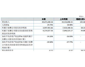 中福环保2019年亏损309.79万 较上年同期亏损减少