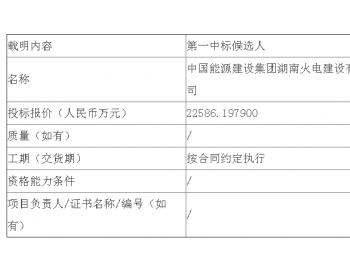 中标|国华电力河北<em>定州电厂</em>节能示范电站改造施工总承包项目中标候选人公示