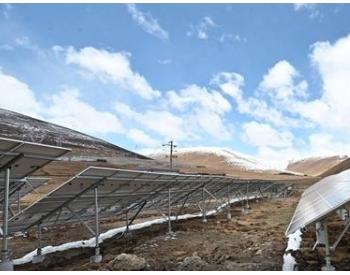 高原上建起光伏电站 助力四川雅江村民稳定增收