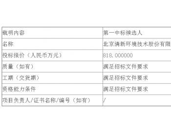 中标|国华电力河南<em>孟津电厂</em>1号、2号机组脱硫提效改造EPC外委公开招标中标候选人公示