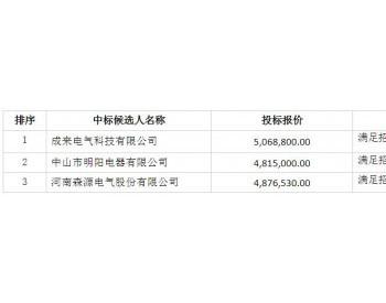 中标 | 中广核广西兴业龙安一期48.7MW风电场<em>箱变采购</em>中标候选人公示