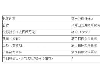 中标|神皖能源安徽<em>马鞍山电厂</em>(2020年6月1日-2021年5月31日)粉煤灰、石膏、炉渣销售...