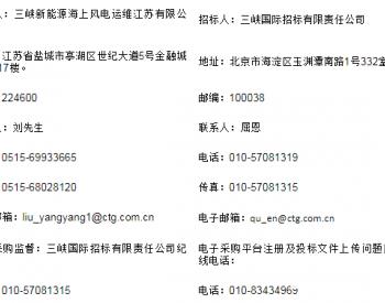 招标丨三峡新能源有限公司江浙公司风电场<em>防雷接地</em>检测服务(2020-2022年度)招标公告