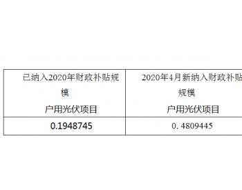<em>山西</em>省2020年4月<em>户用光伏</em>发电项目信息公示