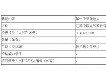中标   宁夏煤业设备管理中心矿用<em>移动变电站</em>采购公开招标中标候选人公示