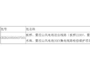 中标|云南公司新能源公司<em>江苏</em>板桥、雷应山风电场送出线路(板桥220KV、雷应山110KV)...