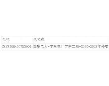 中标|国华电力<em>宁夏</em>宁东<em>电厂</em>一期、二期2020-2023年#1、#2、#3、#4机组外委机械维修加工...