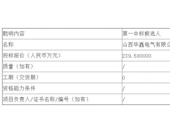 中标 <em>神东煤炭</em>集团2019年10月第17批移动变电站公开招标中标候选人公示
