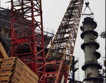 石化四建吊运企业完成天津石化大修高难度设备拆除