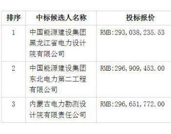 中标 | 中广核黑龙江青冈、龙一、巴彦分散式风电场项目设计施工总承包工程中标候选人公示